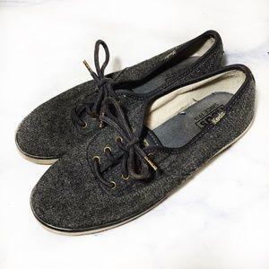 Keds Wool Knit Blend Grey Tennis Shoes Sneakers